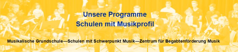 Programme zur musikalischen Förderung